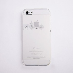 iTattoo5/5s(iPhone Case)carriage of apple / White