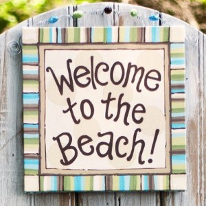 Welcome To the Beach Canvas Art by Glory Haus