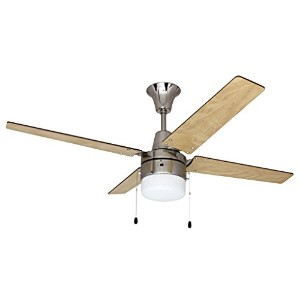 Litex E-UBW48BC4C1 Wakefield Collection 48-Inch Ceiling Fan with Five Reversible Ash/Wenge Wood...