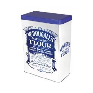 Retro Style McDougall's Self-Raising Flour Tin Canister by McDougalls