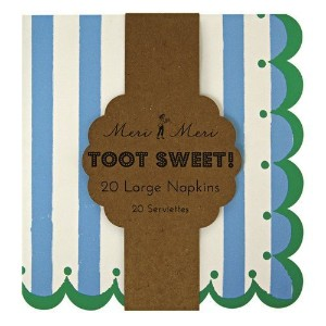 Meri Meri Toot Sweet Blue Large Napkins, 12-Pack by Meri Meri