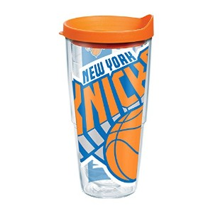 """Tervis 1084599"""" NBA NY Knicks """" Tumbler withオレンジ蓋、ラップ、24オンス、クリア"""
