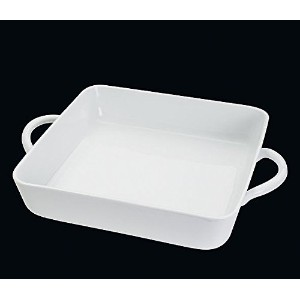 Cilio Premium Armonia Collection Square Casserole Gratin Dish - Microwave & Dishwasher Safe - White...