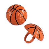 Basketball Cupcake Rings - 12 ct by Bakery Crafts
