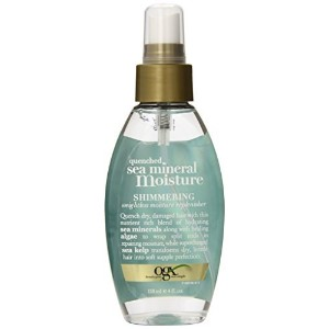 OGX Shimmering Weightless Moisture Replenisher, Quenched Sea Mineral, 4 Ounce (Pack of 6) [並行輸入品]