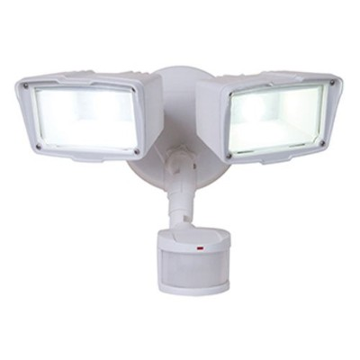 All-Pro MST18920LW, 180 Motion Activated Twin Head LED Floodlight, White by All Pro Outdoor Security