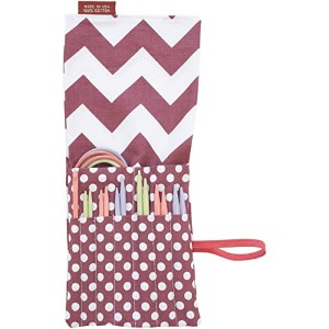 Denise2Go Interchangeable Knitting Tool Set Chevrons & Dots-Purple & White (並行輸入品)