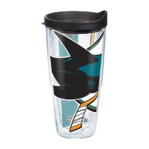 Tervis 1105457NHL San Jose Sharks ColossalラップTumbler withブラック旅行蓋、24オンス、クリア