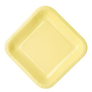 "Color Paper Plates Sqaure (Yellow, 9"" Square 16-ct. packs) by Party Goods [並行輸入品]"