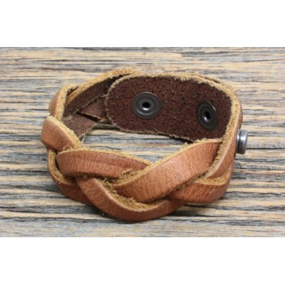 WILL LEATHER GOODS ウィルレザーグッズ DISTRICT CUFF LEATHER BRACE (TAN)