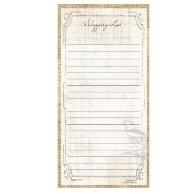 C.R. Gibson 75 Sheet Magnetic Shopping List Pad, Perfect Setting by C.R. Gibson