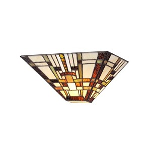 Chloe Lighting CH33290MS12-WS1 Tiffany Style Mission 1-Light Wall Sconce, 12-Inch, Multicolored by...