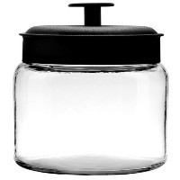 Anchor Hocking 48-Ounce Mini Montana Jars with Black Metal Covers, Set of 4 by Anchor Hocking