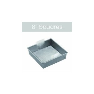 The Smart Baker 8 inch Square Perfect Parchment - Pre-cut Parchment for Cake Pans As Seen on Shark...