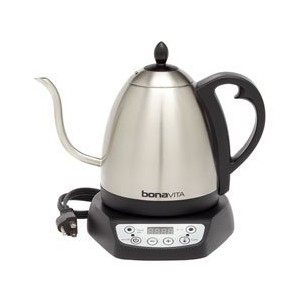 Bonavita Electric Hot Water Kettle for Tea and Coffee - 1 Liter Pot with Gooseneck Spout and...