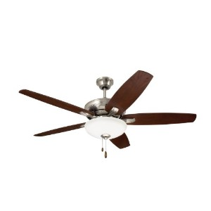 Emerson Ceiling Fans CF717BS Ashland, 52-Inch Low Profile Hugger Ceiling Fan With Light, Brushed...