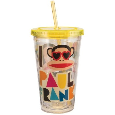 Acrylic Travel Cup - Paul Frank - 18oz Mug Gifts Toys New Licensed 46014