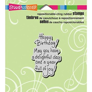 "Stampendous Cling Rubber Stamp 3.5""X4"" Sheet-Delightful Birthday (並行輸入品)"