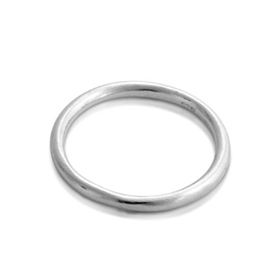 925 Sterling Silver Stackable Ring Band (Size 7.5 US)