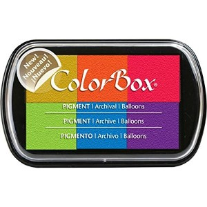 ColorBox Pigment Ink Pad 6 Colors-Balloons (並行輸入品)