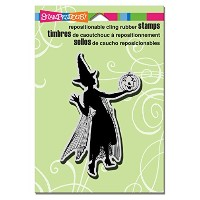 """Stampendous Halloween Cling Rubber Stamp 5.5""""X4.5"""" Sheet-Lady & Jack (並行輸入品)"""