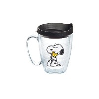 Tervis Peanuts Snoopy and Woodstock Mug with Black Lid by Tervis