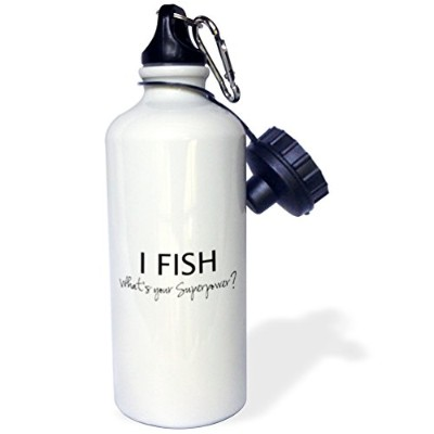 ローズWB _ 184943 _ 1 I fish-whats Your superpower-funny釣りLove Gift For Fishermanスポーツウォーターボトル、21オンス...