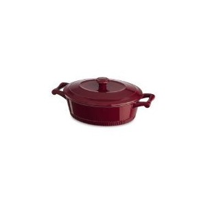 KitchenAid KCTI40CRER Traditional Cast Iron Casserole Cookware, 4 quart - Empire Red by KitchenAid