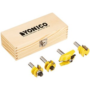 Yonico 12430 Rail and Stile Cabinet Door Router Bit Set with 4 Bit Ogee 1/2-Inch Shank by Yonico