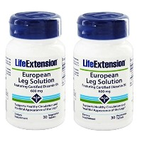 【2本セット】【海外直送品】Life Extension - European Leg Solution featuring Certified Diosmin 95 - 30錠