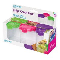Sistema To Go Collection Medium Knick Knack Pack Food Storage Containers, 4.6 Ounce each, Assorted...