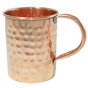 Handmade Copper Moscow Mule Mug Hammered Lacquered Finish by DakshCraft