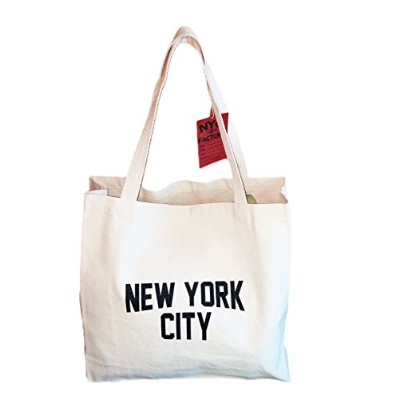 Gusseted New York City Tote Bag Lennon NYC Style Shopping Gym Beach by NYC FACTORY