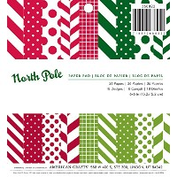 "American Crafts Paper Pad 6""X6"" 36/Pkg-North Pole (並行輸入品)"