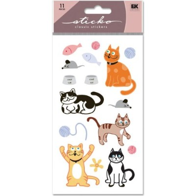 Sticko Classic Stickers-Cat Glitter (並行輸入品)