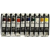 Grumbacher Pre-tested Oil Paint, 24ml/0.81 oz Tube, 10-Color Set by Grumbacher
