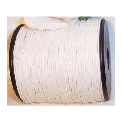 UnCommon Artistry Waxed 1mm Cotton Cord 100 Meters White by UnCommon Artistry