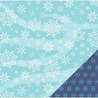 """American Crafts Winter Double-Sided Cardstock 12""""X12""""-Large Snowflakes (並行輸入品)"""