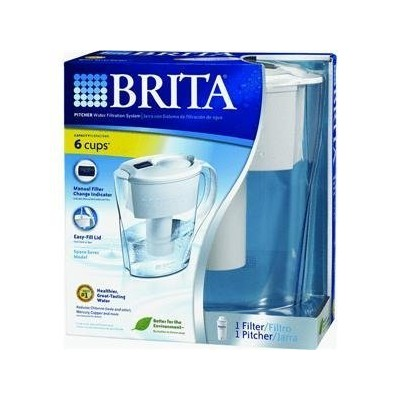 Brita Div of Clorox42364Standard Water Filter Pitcher-1/2GAL SPACESAVR PITCHER (並行輸入品)