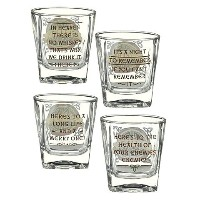 Grasslands RoadケルトWhiskey Glasses Set of 4 with witty sayings 472008