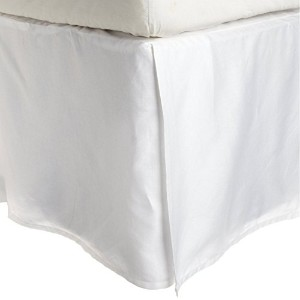 IMPRESSIONS BY LUXOR TREASURES Wrinkle Resistant 3000 Series Cloud Solid Twin XL Bed Skirt, White...