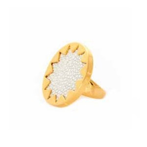 House of Harlow 1960 (ハウスオブハーロウ1960) White Sand Medium Sunburst Ring サイズUS7