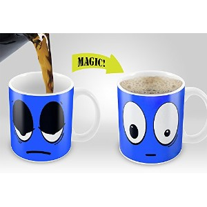 Magic Coffee Mugs Heat Sensitive Color Changing Coffee Mug Good Gift Mug Blue Wake up Magic Mug by...