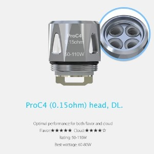 Joyetech ProC Series Heads ProCore Aries 用交換コイル (ProC4-0.15Ω)