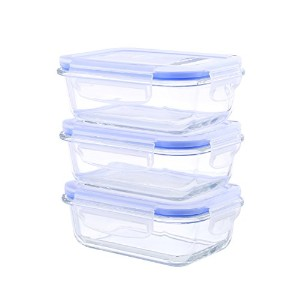 Kinetic 55077 6 Piece Glasslock Rectangular Food Storage Set with Vented Lids, Clear by Kinetic