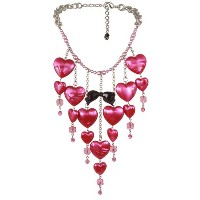TARINA TARANTINO LUCITE PUFF HEART WATERFALL NECKLACE [正規輸入品]