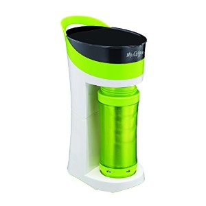 Mr. Coffee Pour! Brew! Go! 16-Ounce Personal Coffee Maker with Insulated TO-GO mug, Sour Apple...