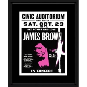 James Brown - Civic Auditorium Framed Mini Poster - 48x38cm