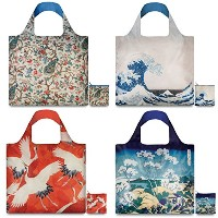 LOQI Museum2 Collection Pouch Reusable Bags, Multicolor, Set of 4 by LOQI