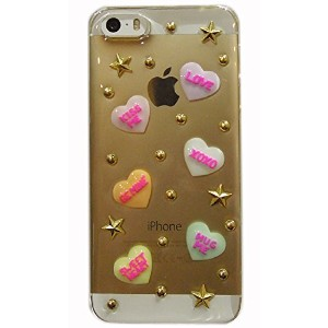 Candyheart for iPhone5s/5 〈SE対応〉 (クリアスタッズ)